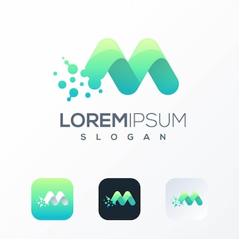 Modèle de logo tech