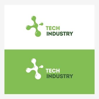 Modèle de logo de technologie abstraite.
