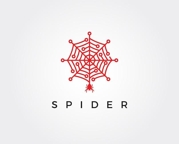 Modèle de logo de technologie d'araignée