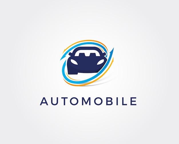 Modèle de logo de technologie automobile