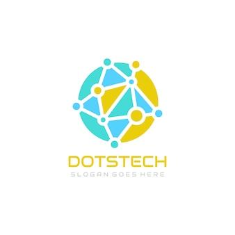 Modèle de logo de technologie mondiale