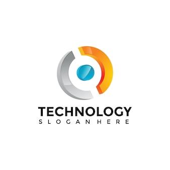 Modèle de logo de technologie