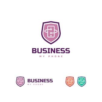 Modèle de logo de téléphone