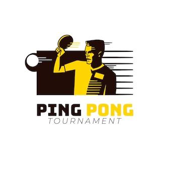 Modèle de logo de tennis de table détaillé