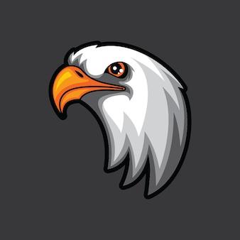 Modèle de logo de tête d'aigle