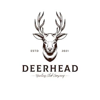 Modèle de logo de tête de cerf
