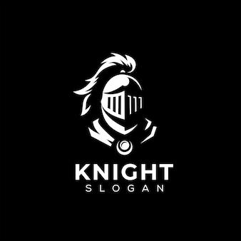 Modèle de logo tête de chevalier