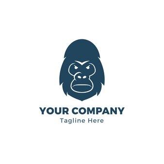 Modèle de logo de tête de gorille