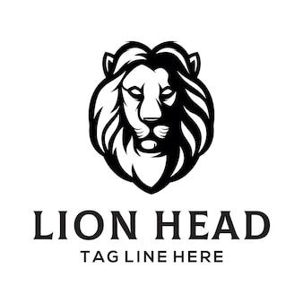 Modèle de logo tête de lion