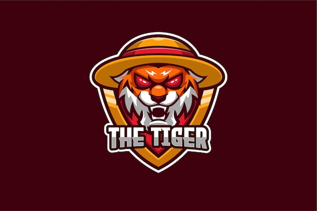 Le modèle de logo tiger e-sport