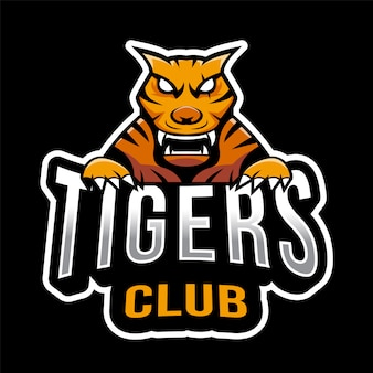 Modèle de logo tigers esport
