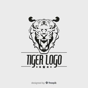 Modèle de logo de tigre moderne