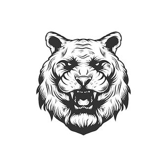 Modèle de logo de tigre