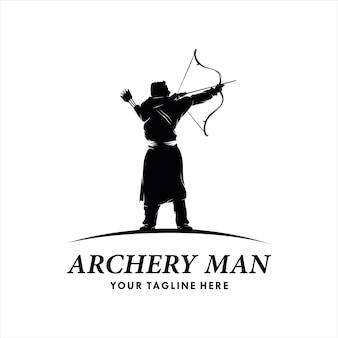 Modèle de logo de tir à l'arc