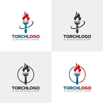 Modèle de logo de torche