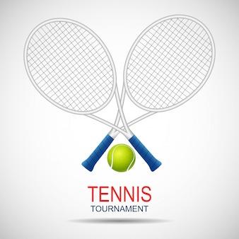 Modèle de logo de tournoi de balle de tennis