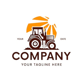 Modèle de logo de tracteur