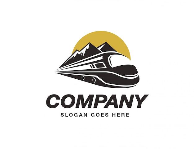 Modèle de logo de train express