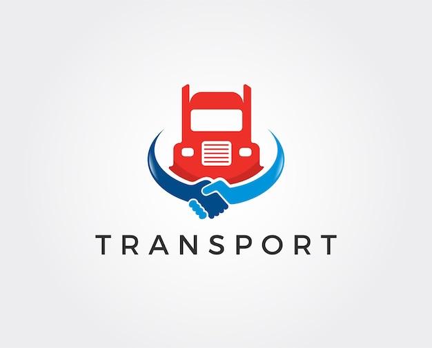 Modèle de logo de transport minimal