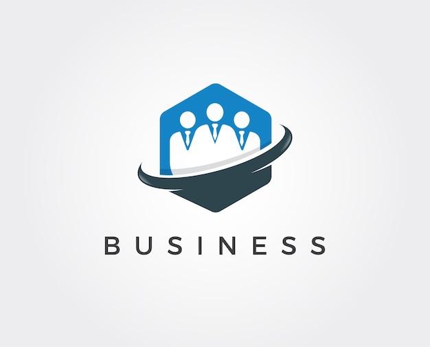 Modèle de logo de travail d'équipe minimal