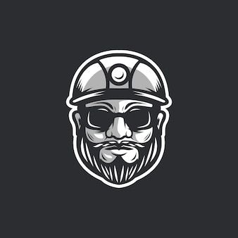 Modèle de logo de travailleur face