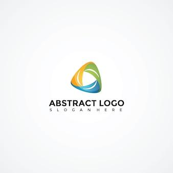 Modèle de logo triagle abstraite