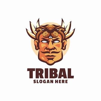 Modèle de logo tribal en colère