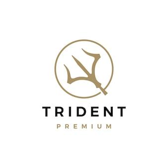 Modèle de logo trident