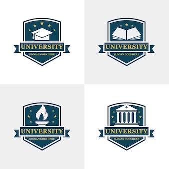 Modèle de logo de l'université