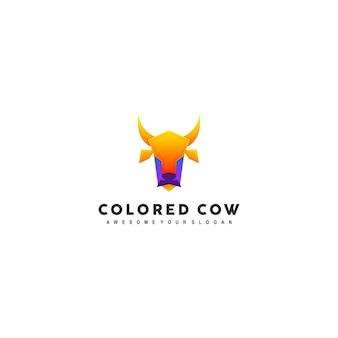 Modèle de logo de vache