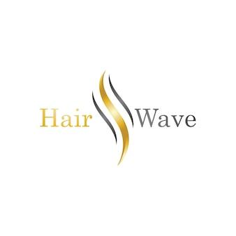 Modèle de logo de vague de cheveux