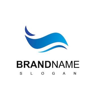 Modèle de logo de vague