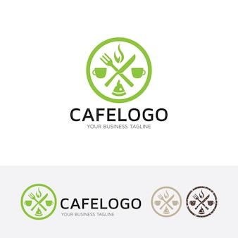 Modèle de logo de vecteur de café