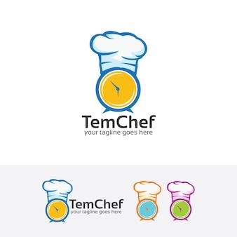 Modèle de logo de vecteur de cuisson minuterie