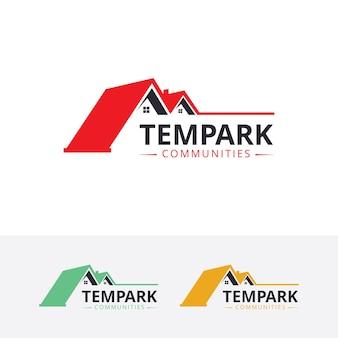 Modèle de logo de vecteur de propriété