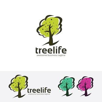 Modèle de logo de vecteur vie arbre