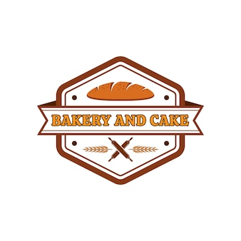 Modèle de logo vectoriel boulangerie et gâteau 01