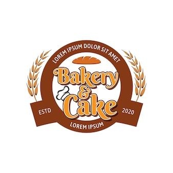 Modèle de logo vectoriel boulangerie et gâteau 02