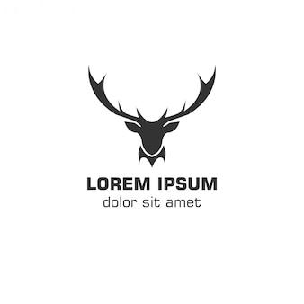 Modèle de logo vectoriel cerf