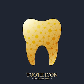 Modèle de logo vectoriel de dent.