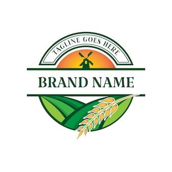 Modèle de logo vectoriel ferme jardin 03