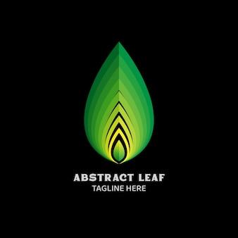 Modèle de logo vectoriel feuille abstraite fit pour la clinique de santé de récolte naturelle de spa, etc.