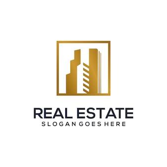 Modèle de logo vectoriel immobilier