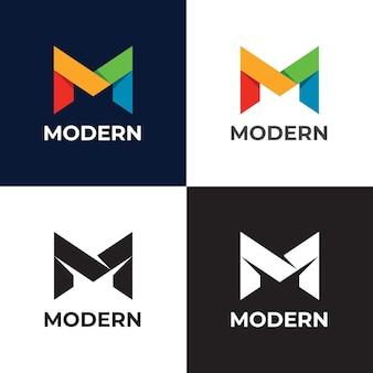 Modèle de logo vectoriel lettre m