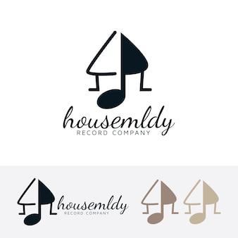 Modèle de logo vectoriel maison mélodie