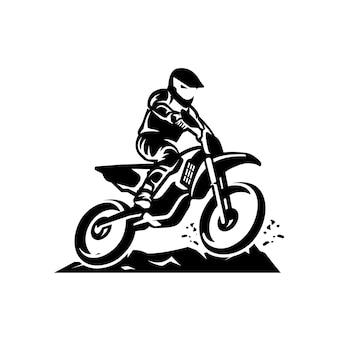 Modèle de logo vectoriel motocross