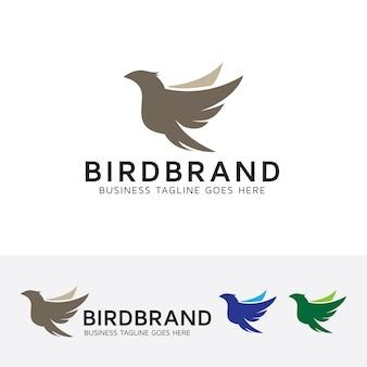 Modèle de logo vectoriel oiseau volant