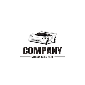 Modèle de logo de véhicule. icône de voiture pour la conception de l'entreprise. location, réparation, concept de garage de magasin.