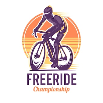 Modèle de logo de vélo détaillé