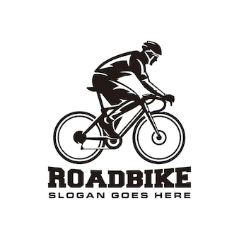 Modèle de logo de vélo de route
